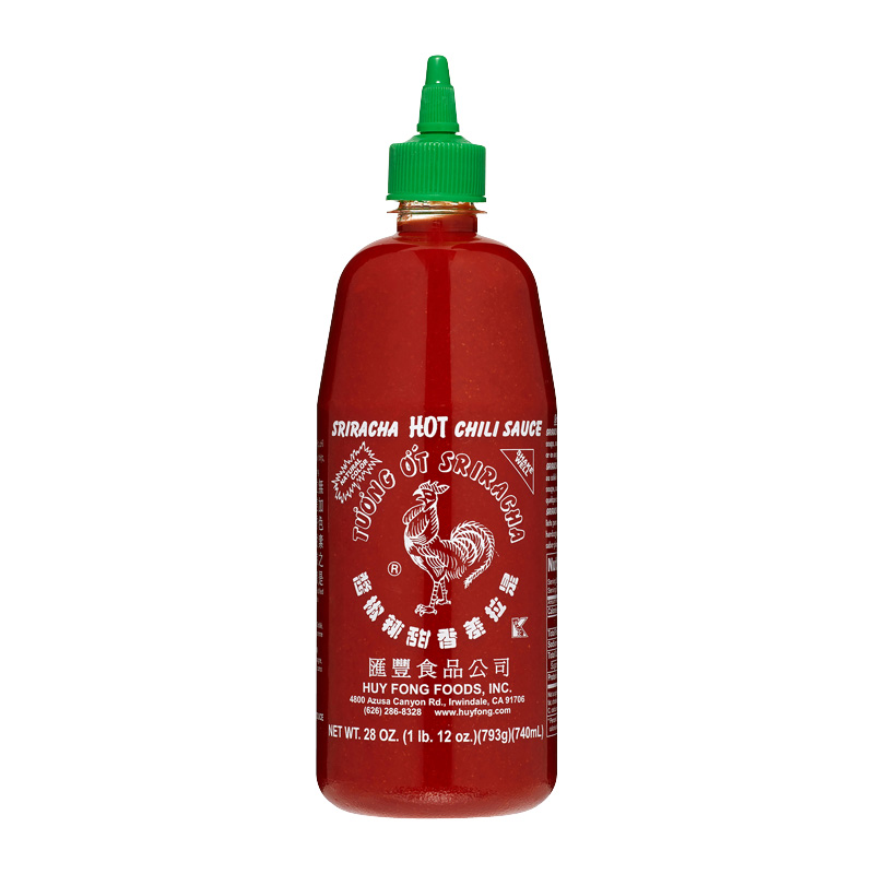 SRIRACHA HOT CHILI SAUCE 28 OUNCE BOTTLES 793g 740ml